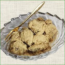 片栗粉で作る麦茶わらびもち