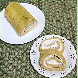 煎茶のロールケーキ(30×25cmの天板1枚)